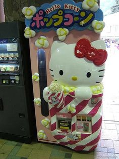 hello kitty popcorn vending machine...oh how I love Japan sometimes...