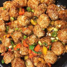 The dumplings of General Tao - plats - Yorgo Meatball Recipes, Pork Recipes, Asian Recipes, Low Carb Recipes, Ethnic Recipes, Recipies, Bread Dishes, Chop Suey, Ground Beef Recipes