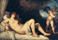 Tizian; Venuše (Danae)