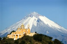 "Cholula Day Trip from Puebla Including the Great Pyramid Discover the largest pyramid in the world and go inside of it. Visit Cholula, a Magical Town in Puebla where you will be able to live prehispanic and colonial times culture. Admire the Mexican Baroque style at Santa Maria Tonanzintla and San Francisco Acatepec.You start the tour from Puebla City main plaza or ""Zocalo"" boarding a traditional double-decker tram. Five miles to the west of the city is the ""double"" town of Ch..."