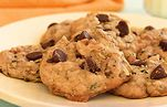 Zucchini and Chocolate Chip Cookies - simple swaps to veganize