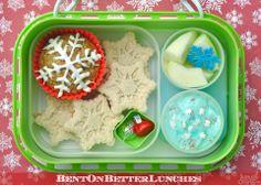 Winter snowflake bento school lunch