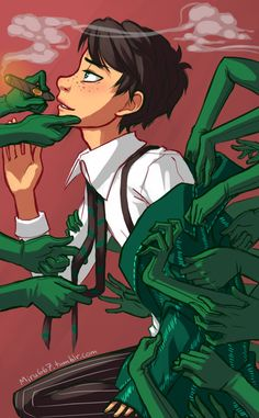 Image black_hair cigar freckles gloves green_eyes hands necktie once-ler short_hair smoking the_lorax The Lorax, Fanart, Shonen Ai, Cute Zombie, Photographie Portrait Inspiration, Cute White Boys, Fandoms, A Series Of Unfortunate Events, Cartoon Tv
