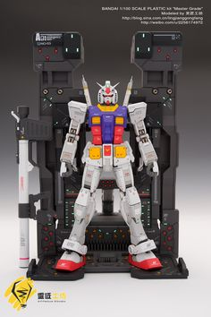 MG 1/100 RX-78-2 Gundam Ver. 3.0 w/ Customized Base - Painted Build
