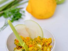 Ricetta Antipasto : Cous cous di primavera asparagi, piselli e mela verde da Peperoniepatate