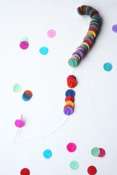 DIY confetti garland via Tokketok.