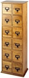 Hardwood library style DVD/CD cabinet