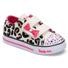 Skechers Twinkle Toes Shuffles Sparkle Sass Toddler Girls' Light-Up Shoes, Beige Oth