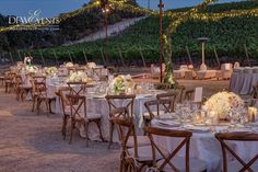 Rustic winery reception with @dfwevents / Uplighting string lights & area wash by #thelightersidela / Photo by @jerryhayesphotography