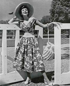 1950s Marcel Rochas dress #vintage