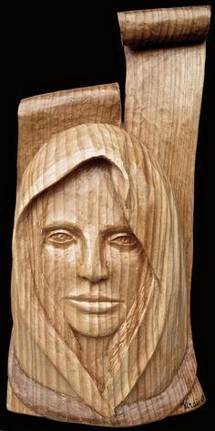 Scultura in legno: Attesa dell'Angelo (2013)