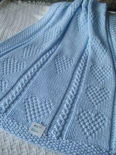 Bebé manta 2 azul manta del bebé azul punto de la por Ednascloset