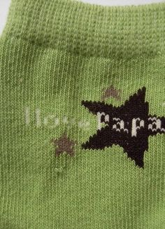 "Wunderschöne Baby-Söckchen grün Gr 92-98 "" I love Papa"" Apollo 2"