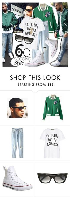 """Views"" by ivansyd ❤ liked on Polyvore featuring Être Cécile, Converse, Tom Ford, Sarah Coventry, DRAKE, views and 60secondstyle"