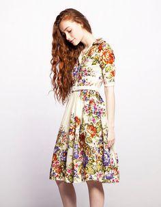MARIA  shirtwaist dress made of woolen shawl by Mrs by mrspomeranz, £299.00