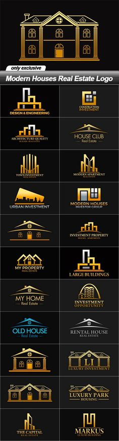 Modern Houses Real Estate Logo                                                                                                                                                                                 More