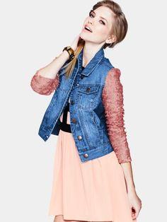 Love Label Sequin Sleeve Denim Jacket, http://www.very.co.uk/love-label-sequin-sleeve-denim-jacket/1216453880.prd