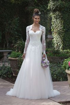 Style 4019: Beaded and Embroidered Lace Ball Gown with Bolero Jacket | Sincerity Bridal