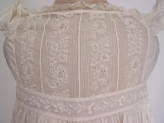 antique christening gowns on ebay | ... Antique Ayrshire Whitework Cotton Christening Gown Infant Dress Vtg