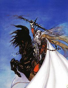 'Elric, The Bane of the Black Sword' by Yoshitaka Amano.