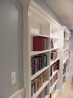 Love the bookcases recessed into the wall. Also could be hallway usage.