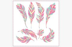 Set of decorative feathers @creativework247