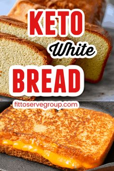 This easy keto white bread is the new staff of life. It's the perfect keto basic white bread that toasts beautifully, is delicious, and easy to make. Everyone doing a low carb/keto diet needs a great no-fuss keto quick bread and this is it! keto bread| low carb bread| keto white bread| low carb white bread #ketobread