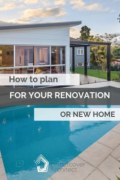 Planning is a super productive phase for your renovation or building project - when done well. Ticking lists and getting-stuff-done. Outdoor Living Areas, Outdoor Rooms, Outdoor Showers, Outdoor Decor, Our Environment, Backyard, Patio, Swimming Pools, New Homes
