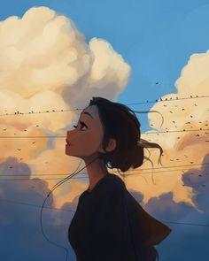 Cartoon Girl Images, Cute Cartoon Girl, Cartoon Art Styles, Girly Drawings, Anime Girl Drawings, Anime Art Girl, Digital Art Girl, Digital Portrait, Aesthetic Art
