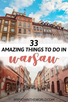 Traveling to the city of Warsaw? Wondering what to do in Warsaw Poland? Here are the best things to do in Warsaw including must see places, what to eat and other travel tips. Ways To Travel, Europe Travel Tips, Travel Guides, Travel Destinations, Travelling Europe, Travel Hacks, Travel Packing, Holiday Destinations, Budget Travel