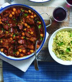 Quick lamb tagine with tabbouleh