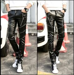 Leather Hip Hop Dance Pants