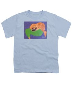 Patrick Francis Designer Youth Light Blue T-Shirt featuring the painting Otter 2014 by Patrick Francis