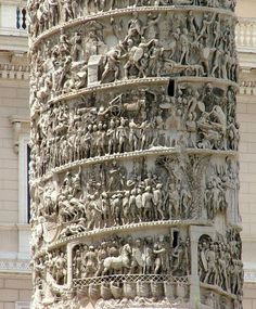 - List of Top Rome Landmarks to help you experience Italy - Detalle de la Columna de Marco Aurelio, Roma - Ancient Mysteries, Ancient Ruins, Ancient Artifacts, Ancient Rome, Ancient History, Mayan Ruins, European History, Ancient Greece, American History