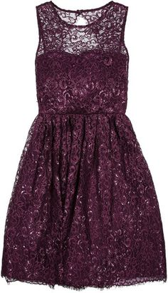 Metallic Lace Dress @Lyst