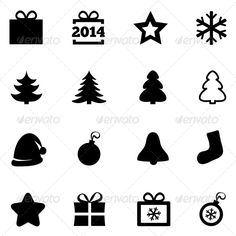 Christmas Icons. New Year 2014 Icons. Vector. #GraphicRiver Christmas icons. New Year 2014 icons. Vector black icons set. Christmas gift box, ball, snowflake, tree, star. Flat icons. On white. Created: 13November13 GraphicsFilesIncluded: JPGImage #VectorEPS Layered: No MinimumAdobeCSVersion: CS Tags: ball #bell #black #bow #box #button #christmas #flat #gift #giftideas #happy #holiday #icons #ideas #merry #new #present #set #sign #snow #snowflake #star #tree #vector #xmas #year