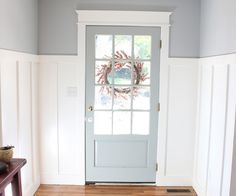 5 Enthusiastic Cool Tips: Wainscoting Ceiling Board And Batten wainscoting office woodwork.Wainscoting Board And Batten Entry Ways. Design Scandinavian, Blue Gray Paint, Blue Paint Colors, Board And Batten, Wall Colors, Entryway Paint Colors, Floor Colors, Gray Front Door Colors, Foyer Paint