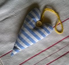 Vintage French Fabric Lavender Filled Heart by gillyflowerdesigns on Etsy