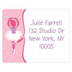 Shop for Ballet Personalized Address Labels (sheet of 15) and other All Parties party supplies. The most popular party Supplies and Decorations, all available at wholesale prices!