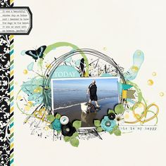 Today digital scrapbook page by Annette Pixley using Rejuvenate by Melissa Bennett, found at the Sweet Shoppe.