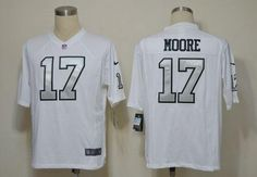 Nike Raiders  17 Denarius Moore White Silver No. Men s Embroidered NFL Game  Jersey! Only  24.00USD 57353be48