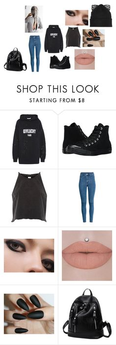 """""""Alaska's outfit #1"""" by doledroid on Polyvore featuring beauty, Givenchy, Converse, River Island, H&M and Silver Spoon Attire"""
