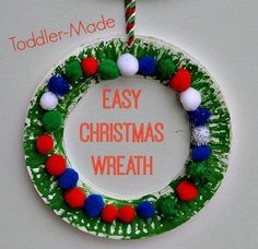 Christmas Crafts for Kids : Easy Christmas Wreath for toddlers This post contains Amazon affiliate links. If you choose to shop through these links, you have o(...)