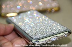 New Arrival Bling Swarovski Element Crystal Case Cover For iPhone 6 Plus Silver