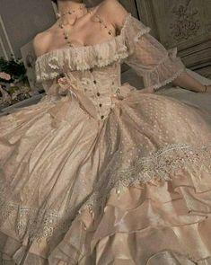 Ball Dresses, Women's Dresses, Vintage Dresses, Vintage Outfits, Fashion Dresses, Victorian Style Dresses, 1800s Dresses, Vintage Ball Gowns, Corset Dresses