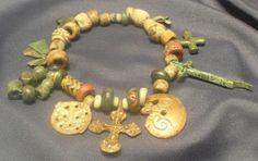 Viking Glass beads and pendants, 10thC.  found: Kaupang, Larvik, Vestfold, Norway