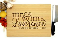 Personalized Cutting Board 12 x 16 inches Custom Wedding Engraved Cutting Board, Personalized Cutting Board, Bamboo Cutting Board, Cutting Boards, Custom Wedding Gifts, Personalized Wedding Gifts, Traditional Engagement Gifts, Engagement Gifts For Her, 60th Birthday Gifts
