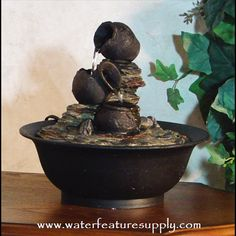 Come see us at https://www.waterfeaturesupply.com/waterwalls/tabletop-water-fountains.html for more information on these wonderful desk water features.    For an incredibly low price, this waterfall feature operates off a standard 110 AC volt outlet and can be installed in minutes.