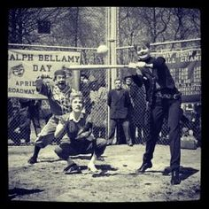 Lucille Ball and Julie Andrews playing softball. No big deal.