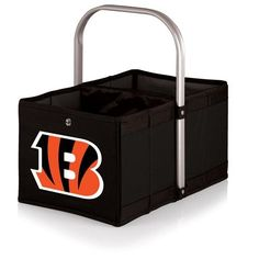Cincinnati Bengals Folding Urban Basket w/Digital Print - Black